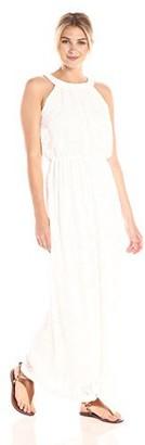 Robbie Bee Women's Lace Halter Maxi Dress