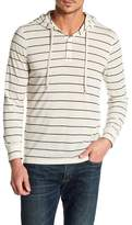 Public Opinion Striped Henley Pullover Hoodie