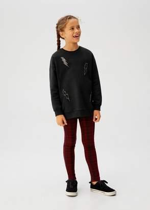 MANGO Thunderbolt cotton sweatshirt