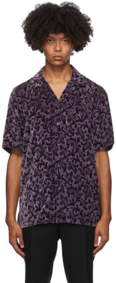 Dries Van Noten Purple Camp Short Sleeve Shirt