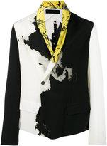 Haider Ackermann printed shawl jacket - men - Silk/Cotton/Rayon - 50