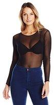 Only Hearts Women's Tulle Long Sleeve Bodysuit