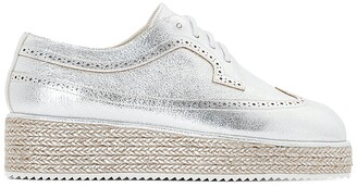 La Redoute Collections Woven Wedge Flatform Brogues