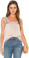 Enza Costa Satin Scoop Neck Tank