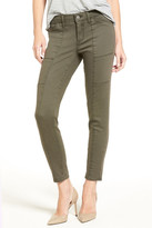 Treasure & Bond Seamed Ankle Skinny Jeans (Olive Tarmac)