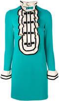 Gucci ruffled bib mini dress