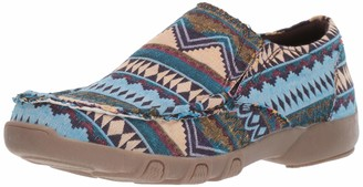 Roper Women's Johnnie Driving Style Loafer Blue 5.5 D US