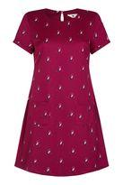 Yumi Cherry Owl Print Tunic Dress