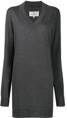 Maison Margiela V-neck knitted dress