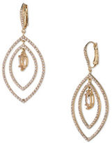 Jenny Packham Crystal and Champagne Gold Drop Earrings