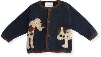 Artwalk Art Walk Woof Woof Cotton Button-Front Sweater, Blue, Size 12-24 Months