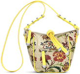 Vera Bradley Glossy Folkloric Floral Fenwick Mini Crossbody Hobo