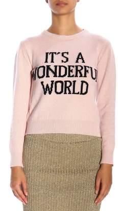 Alberta Ferretti Sweater Crew-neck Pullover With Its A Wonderful World