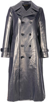 Comme des Garcons metallic (Grey) trench - women - Cotton/Polyurethane/Cupro - S