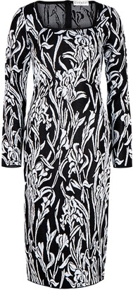 Givenchy Floral-jacquard midi dress