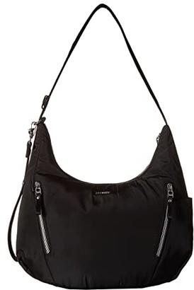 Pacsafe Stylesafe Anti-Theft Convertible Length Crossbody (Black) Cross Body Handbags