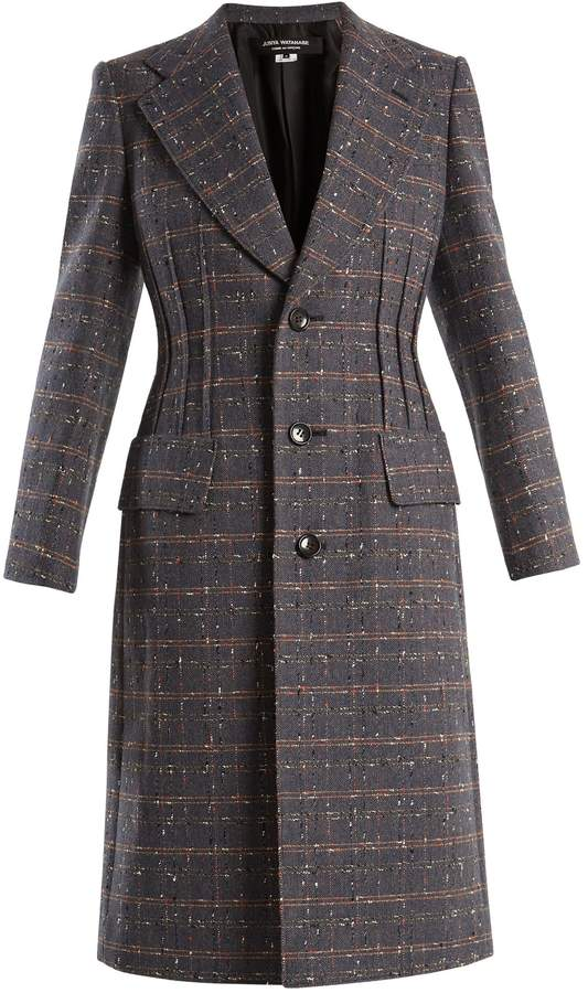 Junya Watanabe Checked single-breasted wool-blend coat