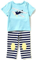 Starting Out Baby Boys 12-24 Months Plane-Appliqued Short-Sleeve Tee & Pants Set