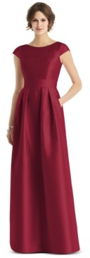 Alfred Sung Cap-Sleeve Maxi Dress