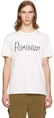 MAISON KITSUNÉ Off-White Parisien T-Shirt