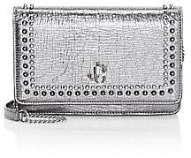 Jimmy Choo Women's Palace Studded Metallic Leather Crossbody Bag