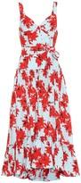 Proenza Schouler Floral crepe midi dress