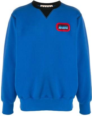 Marni Contrast Neck Sweatshirt