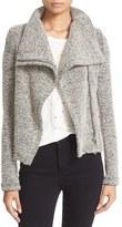 IRO Women's Drape Front Boucle Knit Jacket
