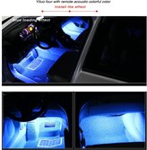 Generic 4-Piece Multi-Color 36 LEDs car decoration light atmosphere Interior Atmosphere Neon Lighting Kit for Car, Decoration Lamp for All Vehicles,Floor Lights