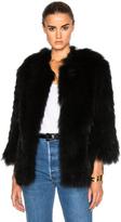 Yves Salomon Asiatic Raccoon Jersey Jacket