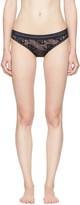 Stella McCartney Navy Stella Soft Lace Bikini Briefs
