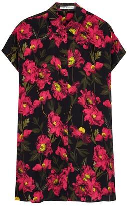 Alice + Olivia Lucette Floral-print Shirt Dress