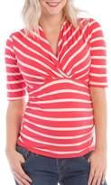 Women's Lilac Clothing Megan Maternity/nursing Top