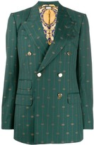 Gucci monogram pattern striped blazer