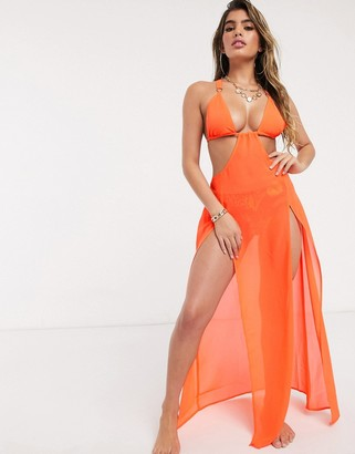 Candypants Candy Pants orange cut out maxi dress