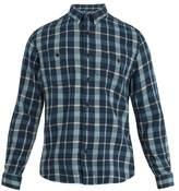 Faherty Seasons plaid cotton-flannel shirt