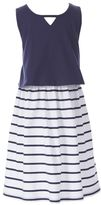 Nautica Little Girls' Tiered Stripe Dress (2T-7)
