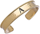 Lisa Stewart Ashford Hammered Personalized Initial Cuff Bracelet
