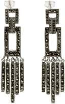 John Greed Marian Art Deco Fringed Drop Earrings
