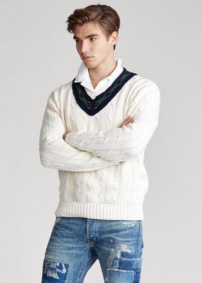 Ralph Lauren Argyle-Trim Cricket Sweater