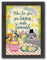 Americanflat ''When Life Gives You Lemons Make Lemonade'' Framed Wall Art