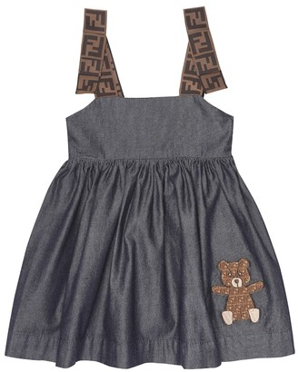 Fendi Baby embroidered cotton dress