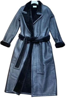 The Row Black Shearling Coat for Women