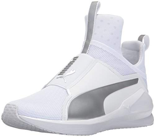 1214e79163 Women's Fierce Core Fashion Sneakers, White Silver, 7 M US
