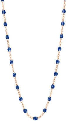 Lapis 20 Inch Classic Gigi Resin Necklace - Yellow Gold