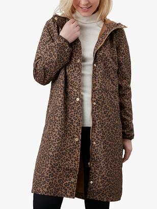 Joules Waybridge Leopard Raincoat, Tan