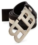 Bally Striped Cotton Blend Belt