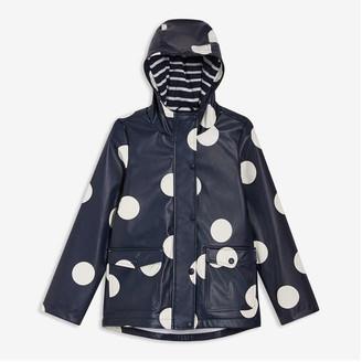 Joe Fresh Kid Girls' Print Raincoat, Dark Navy (Size XL)