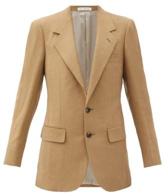 Umit Benan B+ - Logo-nape Tailored-hopsack Blazer - Camel
