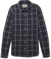 Remi Relief Checked Cotton-Flannel Shirt